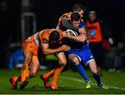 1 March 2019; Fergus McFadden of Leinster is tackled by Dries Swanepoel, left, and Tian Meyer of Toyota Cheetahs during the Guinness PRO14 Round 17 match between Leinster and Toyota Cheetahs at the RDS Arena in Dublin. Photo by Ramsey Cardy/Sportsfile