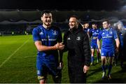 1 March 2019; Man of the match Max Deegan of Leinster, left, with team-mate Dave Kearney after the Guinness PRO14 Round 17 match between Leinster and Toyota Cheetahs at the RDS Arena in Dublin. Photo by Ramsey Cardy/Sportsfile