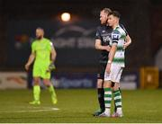 1 March 2019; Chris Shields of Dundalk and Ronan Finn of Shamrock Rovers following the SSE Airtricity League Premier Division match between Shamrock Rovers and Dundalk at Tallaght Stadium in Dublin. Photo by Seb Daly/Sportsfile