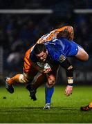 1 March 2019; Andrew Porter of Leinster is tackled by Luan de Bruin of Toyota Cheetahs during the Guinness PRO14 Round 17 match between Leinster and Toyota Cheetahs at the RDS Arena in Dublin. Photo by Ramsey Cardy/Sportsfile