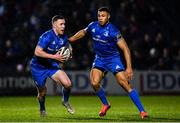 1 March 2019; Rory O'Loughlin, left, and Adam Byrne of Leinster during the Guinness PRO14 Round 17 match between Leinster and Toyota Cheetahs at the RDS Arena in Dublin. Photo by Ramsey Cardy/Sportsfile
