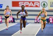 2 March 2019; Molly Scott of Ireland, right, competing in Women's 60m heat during day two of the European Indoor Athletics Championships at Emirates Arena in Glasgow, Scotland. Photo by Sam Barnes/Sportsfile