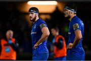 1 March 2019; Caelan Doris, left, and Max Deegan of Leinster during the Guinness PRO14 Round 17 match between Leinster and Toyota Cheetahs at the RDS Arena in Dublin. Photo by Ramsey Cardy/Sportsfile