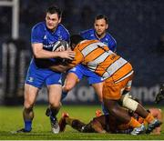 1 March 2019; Conor O'Brien of Leinster is tackled by Ox Nche of Toyota Cheetahs during the Guinness PRO14 Round 17 match between Leinster and Toyota Cheetahs at the RDS Arena in Dublin. Photo by Brendan Moran/Sportsfile