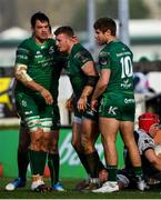 2 March 2019; Connacht players, from left, Quinn Roux, Peter Robb and Kyle Godwin celebrate a try during the Guinness PRO14 Round 17 match between Connacht and Ospreys at The Sportsground in Galway. Photo by Ramsey Cardy/Sportsfile