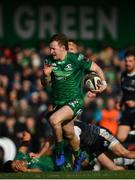 2 March 2019; Kieran Marmion of Connacht on his way to scoring his side's fifth try during the Guinness PRO14 Round 17 match between Connacht and Ospreys at The Sportsground in Galway. Photo by Ramsey Cardy/Sportsfile