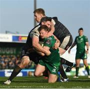 2 March 2019; Kieran Marmion of Connacht is tackled by Rob McCusker of Ospreys during the Guinness PRO14 Round 17 match between Connacht and Ospreys at The Sportsground in Galway. Photo by Ramsey Cardy/Sportsfile