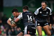 2 March 2019; Tom Farrell of Connacht is tackled by Scott Otten of Ospreys during the Guinness PRO14 Round 17 match between Connacht and Ospreys at The Sportsground in Galway. Photo by Ramsey Cardy/Sportsfile