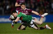 2 March 2019; James Durcan of Mayo in action against Eoghan Kerin of Galway during the Allianz Football League Division 1 Round 5 match between Mayo and Galway at Elverys MacHale Park in Castlebar, Mayo. Photo by Piaras Ó Mídheach/Sportsfile