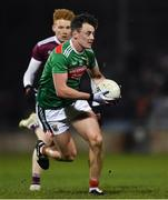 2 March 2019; Diarmuid O'Connor of Mayo in action against Peter Cooke of Galway during the Allianz Football League Division 1 Round 5 match between Mayo and Galway at Elverys MacHale Park in Castlebar, Mayo. Photo by Piaras Ó Mídheach/Sportsfile