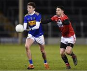 2 March 2019; Jack Kennedy of Tipperary in action against Luke Connolly of Cork during the Allianz Football League Division 2 Round 5 match between Tipperary and Cork at Semple Stadium in Thurles, Tipperary. Photo by Matt Browne/Sportsfile