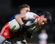 2 March 2019; Matthew Donnelly of Tyrone in action against Padraig Faulkner of Cavan during the Allianz Football League Division 1 Round 5 match between Tyrone and Cavan at Healy Park in Omagh, Tyrone. Photo by Seb Daly/Sportsfile