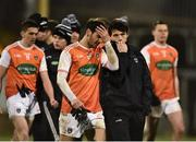 2 March 2019; A disappointed Jamie Clarke, left, and James Morgan of Armagh following the Allianz Football League Division 2 Round 5 match between Donegal and Armagh at MacCumhail Park in Ballybofey, Donegal. Photo by Oliver McVeigh/Sportsfile