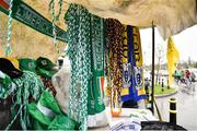 3 March 2019; A general view of merchandise on sale outside Cusack Park prior to the Allianz Hurling League Division 1A Round 5 match between Clare and Limerick at Cusack Park in Ennis, Co. Clare. Photo by Diarmuid Greene/Sportsfile