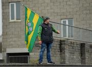 3 March 2019; Leitrim supporter Michael Kelly on the terrace during the Allianz Football League Division 4 Round 5 match between Leitrim and London at Avantcard Páirc Seán Mac Diarmada in Carrick-on-Shannon, Co. Leitrim. Photo by Oliver McVeigh/Sportsfile