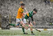 3 March 2019; Shane Conway of Kerry in action against Cathal McCabe of Meath during the Allianz Hurling League Division 2A Round 5 match between Kerry and Meath at Fitzgerald Stadium in Killarney, Kerry. Photo by Brendan Moran/Sportsfile
