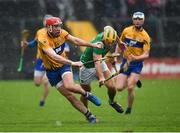 3 March 2019; Niall Deasy of Clare in action against Dan Morrissey of Limerick during the Allianz Hurling League Division 1A Round 5 match between Clare and Limerick at Cusack Park in Ennis, Clare. Photo by Diarmuid Greene/Sportsfile