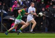 3 March 2019; Peter Kelly of Kildare in action against Donal Keogan of Meath the Allianz Football League Division 2 Round 5 match between Meath and Kildare at Páirc Táilteann, in Navan, Meath. Photo by Piaras Ó Mídheach/Sportsfile