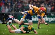 3 March 2019; Dan Morrissey of Limerick in action against Niall Deasy of Clare during the Allianz Hurling League Division 1A Round 5 match between Clare and Limerick at Cusack Park in Ennis, Clare. Photo by Diarmuid Greene/Sportsfile