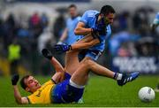 3 March 2019; Enda Smith of Roscommon in action against Niall Scully of Dublin during the Allianz Football League Division 1 Round 5 match between Roscommon and Dublin at Dr Hyde Park in Roscommon. Photo by Ramsey Cardy/Sportsfile