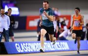 3 March 2019; Olympian and RTE Broadcaster David Gillick of Ireland competing in the Men's 60m Media Race during day three of the European Indoor Athletics Championships at Emirates Arena in Glasgow, Scotland. Photo by Sam Barnes/Sportsfile