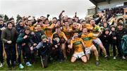 3 March 2019; The Leitrim players celebrate after the Allianz Football League Division 4 Round 5 match between Leitrim and London at Avantcard Páirc Seán Mac Diarmada in Carrick-on-Shannon, Co. Leitrim. Photo by Oliver McVeigh/Sportsfile