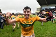 3 March 2019; Dean McGovern of Leitrim celebrates the Allianz Football League Division 4 Round 5 match between Leitrim and London at Avantcard Páirc Seán Mac Diarmada in Carrick-on-Shannon, Co. Leitrim. Photo by Oliver McVeigh/Sportsfile