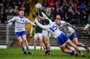 3 March 2019; Paul Murphy of Kerry in action against Monaghan players Ryan McAnespie, left and Dessie Mone of Monaghan during the Allianz Football League Division 1 Round 5 match between Kerry and Monaghan at Fitzgerald Stadium in Killarney, Kerry. Photo by Brendan Moran/Sportsfile
