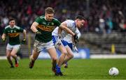 3 March 2019; Conor McManus of Monaghan in action against Peter Crowley of Kerry during the Allianz Football League Division 1 Round 5 match between Kerry and Monaghan at Fitzgerald Stadium in Killarney, Kerry. Photo by Brendan Moran/Sportsfile