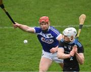 3 March 2019; Liam Rushe of Dublin in action against Matthew Whelan of Laois during the Allianz Hurling League Division 1B Round 5 match between Dublin and Laois at Parnell Park in Dublin. Photo by Ray McManus/Sportsfile