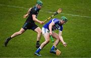 3 March 2019; Paddy Purcell of Laois in action against James Madden of Dublin during the Allianz Hurling League Division 1B Round 5 match between Dublin and Laois at Parnell Park in Dublin. Photo by Ray McManus/Sportsfile