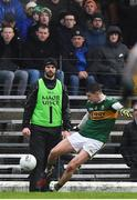 3 March 2019; Sean O'Shea of Kerry kicks a point directly from a sideline during the Allianz Football League Division 1 Round 5 match between Kerry and Monaghan at Fitzgerald Stadium in Killarney, Kerry. Photo by Brendan Moran/Sportsfile
