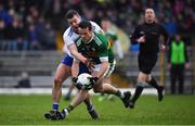 3 March 2019; Shane Enright of Kerry is tackled by Ryan Wylie of Monaghan during the Allianz Football League Division 1 Round 5 match between Kerry and Monaghan at Fitzgerald Stadium in Killarney, Kerry. Photo by Brendan Moran/Sportsfile