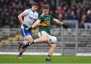 3 March 2019; Gavin Crowley of Kerry in action against Darren Hughes of Monaghan during the Allianz Football League Division 1 Round 5 match between Kerry and Monaghan at Fitzgerald Stadium in Killarney, Kerry. Photo by Brendan Moran/Sportsfile