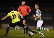 4 March 2019; Greg Bolger of Shamrock Rovers in action against John Kavanagh of Finn Harps during the SSE Airtricity League Premier Division match between Shamrock Rovers and Finn Harps at Tallaght Stadium in Dublin. Photo by Eóin Noonan/Sportsfile