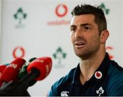 5 March 2019; Rob Kearney during an Ireland Rugby press conference at Carton House in Maynooth, Kildare. Photo by Harry Murphy/Sportsfile