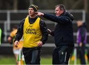 3 March 2019; Leitrim manager Terry Hyland, right, along with Leitrim selector Jason O'Reilly during the Allianz Football League Division 4 Round 5 match between Leitrim and London at Avantcard Páirc Seán Mac Diarmada in Carrick-on-Shannon, Co. Leitrim. Photo by Oliver McVeigh/Sportsfile