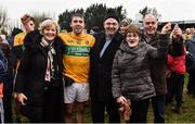 3 March 2019; Sean McWeeney of Leitrim with his family after the Allianz Football League Division 4 Round 5 match between Leitrim and London at Avantcard Páirc Seán Mac Diarmada in Carrick-on-Shannon, Co. Leitrim. Photo by Oliver McVeigh/Sportsfile