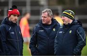3 March 2019; Leitrim manager Terry Hyland, centre, along with selectors Gary Donoghue, left, and Padraig McGourty during the Allianz Football League Division 4 Round 5 match between Leitrim and London at Avantcard Páirc Seán Mac Diarmada in Carrick-on-Shannon, Co. Leitrim. Photo by Oliver McVeigh/Sportsfile