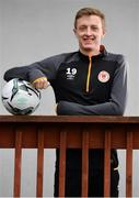 6 March 2019; Chris Forrester poses for a portrait after a St Patrick's Athletic Press Conference at Ballyoulster United AFC in Celbridge, Co. Kildare. Photo by Sam Barnes/Sportsfile
