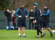 6 March 2019; Ireland coaches, from left, defence coach Andy Farrell, forwards coach Simon Easterby and scrum coach Greg Feek, Squad Training at Carton House in Maynooth, Kildare. Photo by David Fitzgerald/Sportsfile