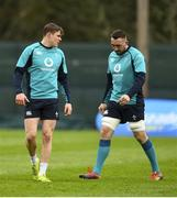 6 March 2019; Garry Ringrose, left, and Jack Conan during Ireland Rugby Squad Training at Carton House in Maynooth, Kildare. Photo by David Fitzgerald/Sportsfile