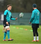 6 March 2019; Josh van der Flier, left, with Jonathan Sexton during Ireland Rugby Squad Training at Carton House in Maynooth, Kildare. Photo by David Fitzgerald/Sportsfile