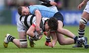 6 March 2019; Alekseiy Soroka of Belvedere College is tackled by Jack Boyle of St Michael's College during the Bank of Ireland Schools Senior Cup semi-final match between Belvedere College and St Michael's College at Energia Park in Donnybrook, Dublin. Photo by Piaras Ó Mídheach/Sportsfile