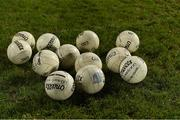 2 March 2019; A general view of footballs before the Allianz Football League Division 1 Round 5 match between Mayo and Galway at Elverys MacHale Park in Castlebar, Mayo. Photo by Piaras Ó Mídheach/Sportsfile
