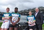 7 March 2019; In attendance, from left, Wicklow footballer, Patrick O'Connor, Westmeath footballer Boidu Sayeh, Dublin footballer Lyndsey Davey with Kilmacud Crokes, and former Clare manager, Anthony Daly during the Renault GAA World Games 2019 Launch at Croke Park in Dublin. Photo by Eóin Noonan/Sportsfile