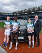 7 March 2019; In attendance from left, Wicklow footballer, Patrick O'Connor, Westmeath footballer Boidu Sayeh, Dublin footballer Lyndsey Davey with Kilmacud Crokes, and former Clare manager, Anthony Daly during the Renault GAA World Games 2019 Launch at Croke Park in Dublin. Photo by Eóin Noonan/Sportsfile