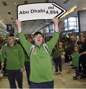 7 March 2019; Mark Claffey of the Golf Team on the team's departure from Dublin Airport in advance of the Special Olympics World Summer Games in Abu Dhabi, United Arab Emirates. Photo by Matt Browne/Sportsfile
