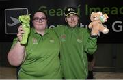 7 March 2019; Sarah Thorne from Antrim and Sarah Kilmartin from Westmeath of Team Ireland on the team's departure from Dublin Airport in advance of the Special Olympics World Summer Games in Abu Dhabi, United Arab Emirates. Photo by Matt Browne/Sportsfile
