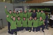 7 March 2019; Members of the Ireland soccer team on the team's departure from Dublin Airport in advance of the Special Olympics World Summer Games in Abu Dhabi, United Arab Emirates. Photo by Matt Browne/Sportsfile